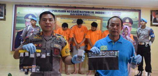 Dalam Sehari, Sat Narkoba Polres Badung Gulung 6 Pengedar dan Belasan Paket Sabhu