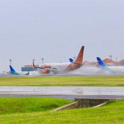Utamakan Keselamatan Penerbangan, Bandara Ngurah Rai Antisipasi Musim Hujan