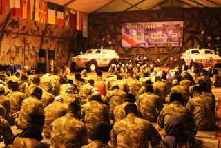 Sambut Tahun Baru, Pasukan Garuda XXIII-M Gelar Istighotsah dan Doa Bersama