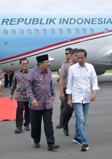 Kunker di Jatim, Presiden Jokowi Tinjau Daerah Irigasi Lodoyo