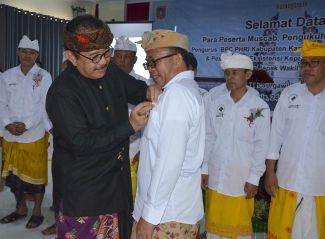 I Wayan Kariasa Pimpin PHRI Karangasem Periode 2019-2023