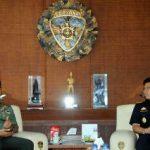 Terima Kunjungan Kepala DJBC Bali, NTB, NTT, Pangdam Udayana: Tingkatkan Sinergitas Kerjasama TNI dan Dirjen Bea Cukai
