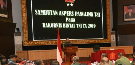 Rapat Koordinasi Bintal TNI 2019, Aspers Panglima TNI: Mental Prajurit TNI Motor Penggerak Sikap