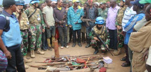 Satgas TNI Konga XXXIX-A Kembali Amankan 2 Pucuk Senjata AK-47 dan 1 Granat