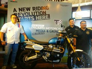 "Dual Purpose Bergaya Custom Premium, PT GAS Triumph Motorcycle Resmi Merilis ""The New Scrambler 1200 XE"""