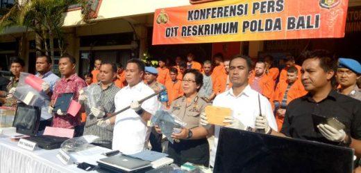 Selama Operasi Sikat Agung 2019, Polda Bali Ungkap 67 Kasus Kejahatan