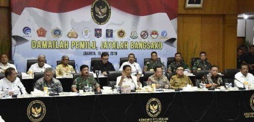 """Rakor Kesiapan Akhir Pengamanan Pemilu 2019, """"Damailah Pemilu, Jayalah Bangsaku"""""""