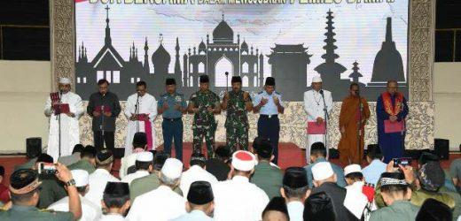 Dari Doa Bersama Lintas Agama, Panglima TNI: Kita Mohon Pemilu Berjalan Damai dan Sukses