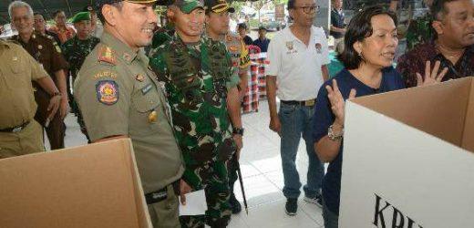 Jelang Pencoblosan, Pangdam IX/Udayana Turun Langsung Pantau TPS