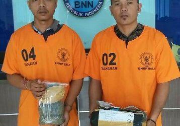 Tangkap Dua Orang Kurir, BNNP Bali Sita 427 Gram Ganja dari Medan