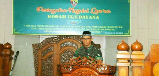 Peringatan Nuzulul Qur'an di Kodam IX/Udayana, Pangdam Udayana: Prajurit Harus Amalkan Nilai Al-Qur'an Dalam Kehidupan Sehari-hari
