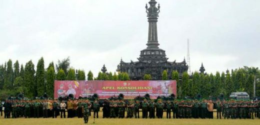 Kasdam Udayana Pimpin Apel Gelar Pasukan Pengamanan VVIP Presiden RI
