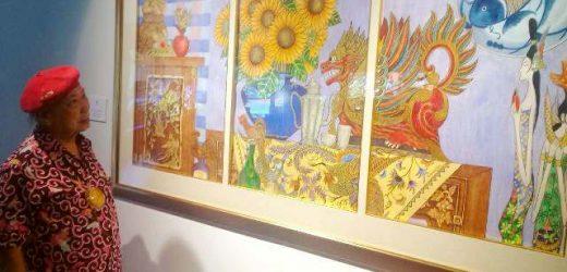 Perupa Djaja Tjandra Kirana, Pamerkan Karya Rupa Silang Budaya Lintas Bangsa di Santrian Gallery Sanur