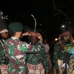Syukuran Adat 3 Putra Suku Kanum Jadi Prajurit TNI