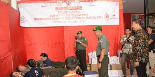 Sambut Hut Ke-74, TNI Gelar Bakti Kemanusiaan Donor Darah