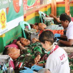 """Setetes Darahmu Selamatkan Sejuta Jiwa"" dari Satgas Yonif 411/Pandawa Kostrad"