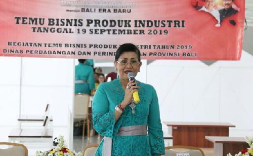 Temu Bisnis Produk Industri Tahun 2019, Ny. Putri Suastini Koster: Produk Boleh Inovatif Tapi Jangan Hilangkan Budaya Leluhur