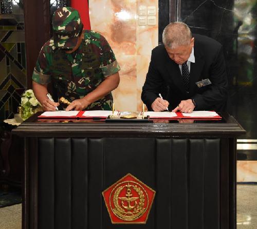 Tandatangani Nota Kesepahaman, TNI dan BTCI Jalin Kerjasama di Bidang Kemanusiaan