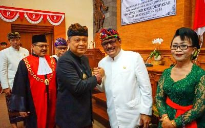 Komposisi Pimpinan DPRD Kota Denpasar 2019-2024 Masih Diisi Wajah-wajah Lama