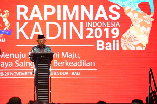 """Wapres Ma'ruf Amin Buka Rapimnas Kadin, """"Kemajuan Ekonomi yang Berdaya Saing dan Berkeadilan"""" jadi Fokus Utama"""