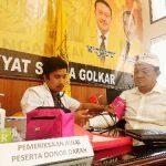 Turah Panji Astika Donor Darah di Hut ke-55 Partai Golkar