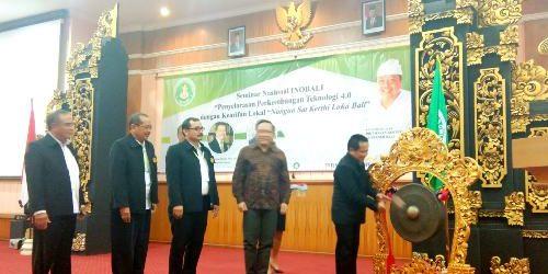 """Seminar Nasional INOBALI, Dwijendra University Selaraskan Teknologi Berbasis """"Nangun Sat Kerthi Lokal Bali"""""""