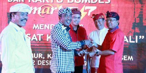 Menuju Bali Smart Island, Gubernur Koster Luncurkan Aplikasi dan Kartu Bumdes SM@RT 247 Desa Duda Timur