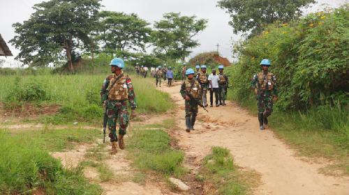 Satgas TNI RDB Berhasil Mengajak 30 Orang Ex-Combatan Suku Perci Kembali ke Masyarakat