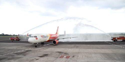 Bandara I Gusti Ngurah Rai Sambut Inaugural Flight VietJet Air Rute Hanoi – Bali pp
