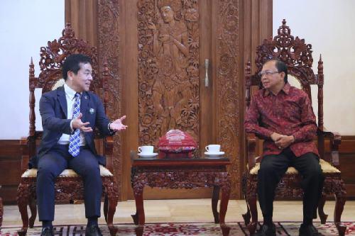 Terima Kunjungan Walikota Misato Jepang, Gubernur Koster Dorong Kerjasama Kota Misato dan Desa-desa di Bali