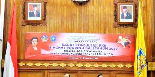Rapat Konsultasi PKK Provinsi Bali, Gubernur Koster Minta PKK Ikut Aktif Olah Sampah Berbasis Sumber