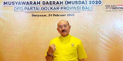 Sugawa Korry Pimpin Golkar Bali, Artha Dipa Optimis Golkar Makin Kompak