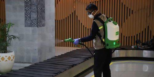 Bandara I Gusti Ngurah Rai Lakukan Desinfeksi Fasilitas Bandara Cegah Virus Corona