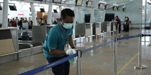 Sisir Semua Fasilitas, Bandara Ngurah Rai Gelar Desinfeksi