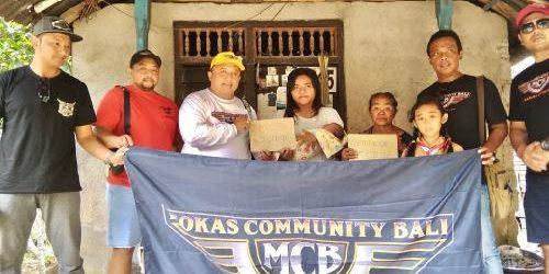 Mokas Community Bali Bantu Peralatan Bayi kepada Cempaka Febriyani