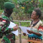 Gandeng Lintas Sektoral Sota, Satgas Yonif 411 Kostrad Edukasi Warga di Perbatasan Cegah Covid-19