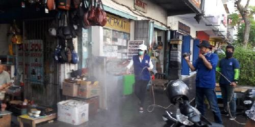 Siapkan 100 Ribu Liter Cairan Desinfektan, Nasdem Buleleng Lakukan Penyemprotan ke Seluruh Wilayah Kabupaten Buleleng