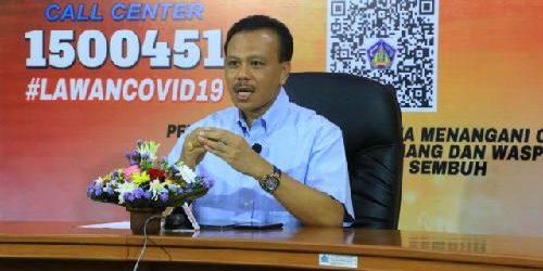 "Ketua Satgas Penanggulangan Covid-19 Dewa Indra: ""PDP 183, sembuh 18 orang"""