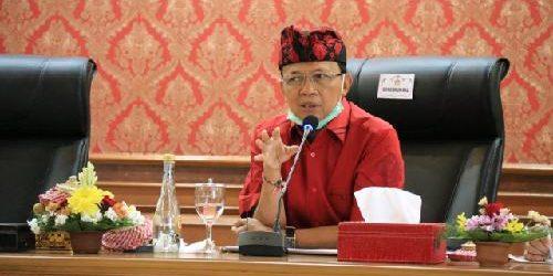 """Rakor Percepatan Penanganan Covid-19, Gubernur Koster: """"Bali belum perlu ajukan PSBB"""""""
