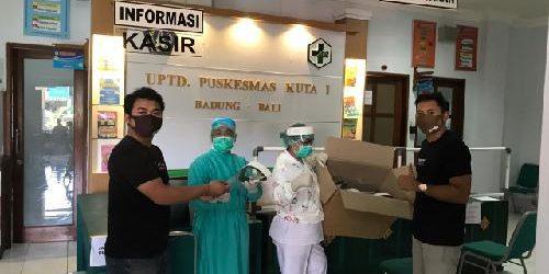 Solid dan Elemen Pemuda Legian Donasikan APD ke Rumah Sakit dan Puskesmas di Klungkung dan Badung