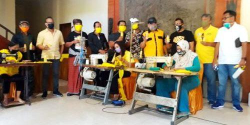 Berdayakan Penjahit Rumahan, Golkar Bali Produksi 100 Ribu Masker