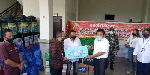 Rai Wirajaya dan BMPD Bali Salurkan Bantuan Penanggulangan Covid-19 kepada Kabupaten Jembrana
