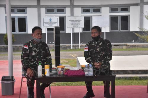 Jaga Kekompakan, Danrem 174/ATW Kunjungi Lantamal XI Merauke