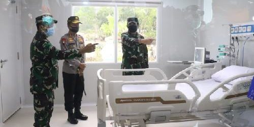 "Kunjungi RSKI Pulau Galang, Panglima TNI: ""Patuhi protokol kesehatan di masa transisi new normal"""