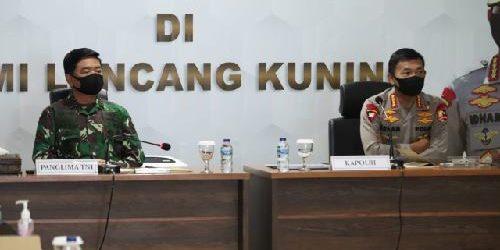 Panglima TNI dan Kapolri Pimpin Rapat Penanganan Covid-19 dan Karhutla bersama Provinsi Riau
