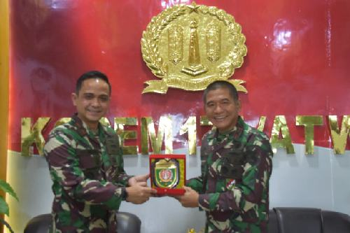 Danrem 174 Merauke Terima Kunjungan Danlanud J.A. Dimara