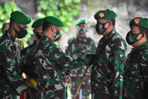 Danrem Merauke Pimpin Upacara Penyerahan Tugas dan Jabatan 14 Perwira Korem 174