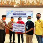 """Kwarda Gerakan Pramuka Bali Terima 300 Paket Sembako, Made Rentin: """"Penerima daftar lewat online berbasis NIK"""""""