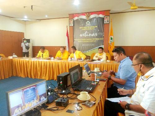 """Seminar Virtual Partai Golkar """"Strategi Pembangunan Ekonomi Bali Pasca Pandemi Covid-19"""", Golkar Bali: """"Ini sumbangsih Golkar percepat pemulihan ekonomi Bali"""""""