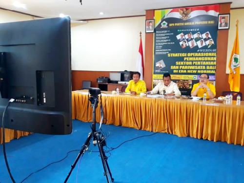 Dari Webinar DPD Golkar Bali, Sinergikan Pertanian dan Pariwisata Wujudkan Keseimbangan Ekonomi Bali di Era New Normal